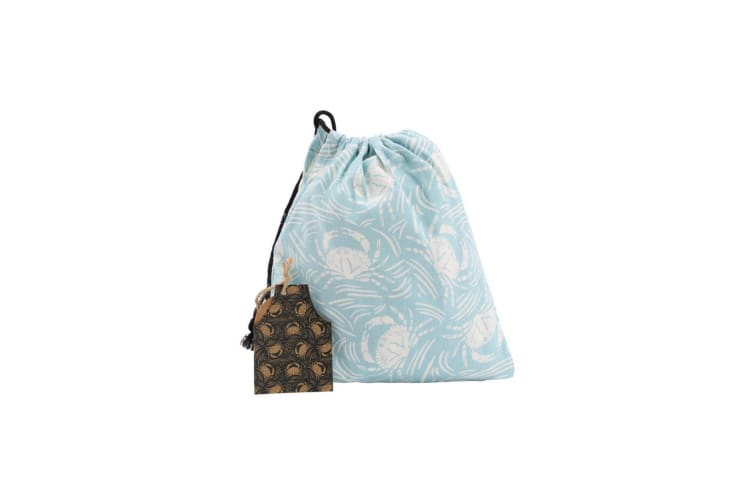 CGB Giftware Harbour Blue Crab Apron and Bag (Blue) (One Size)