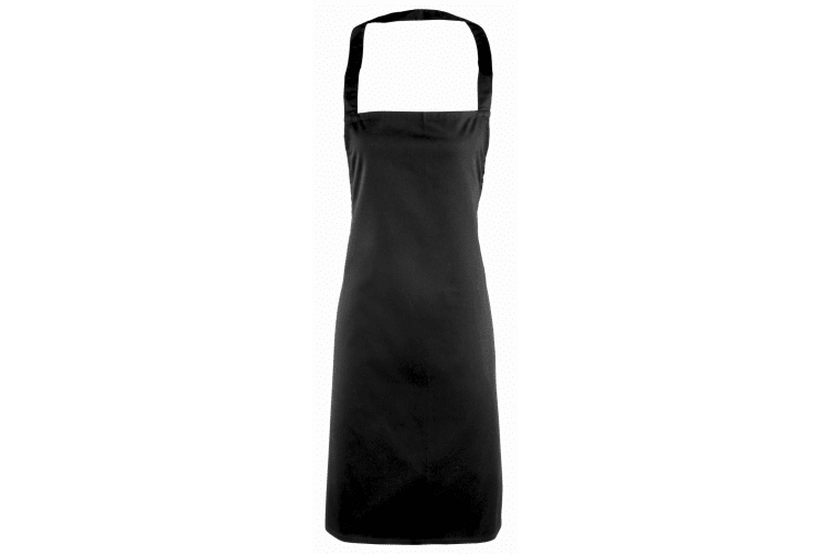 Premier Ladies/Womens Essential Bib Apron / Catering Workwear (Pack of 2) (Black) (One Size)