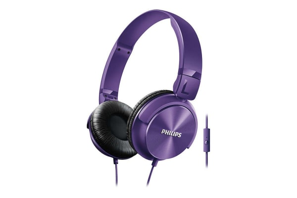 Philips On-Ear Headphones with Mic - Purple (SHL3065PP)