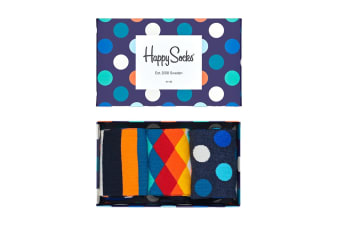 Happy Socks Classic Mix Gift Box (Navy Blue, Size 41-46)