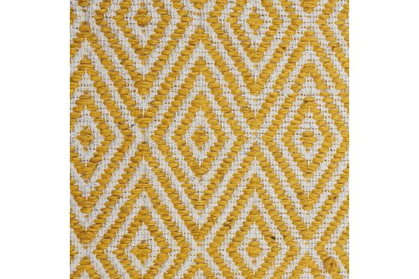 Modern Flatweave Diamond Design Yellow Rug 280x190cm