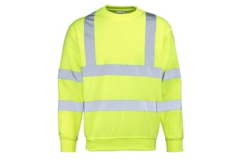 RTY High Visibility Mens High Vis Sweatshirt (Fluorescent Yellow) (XL)
