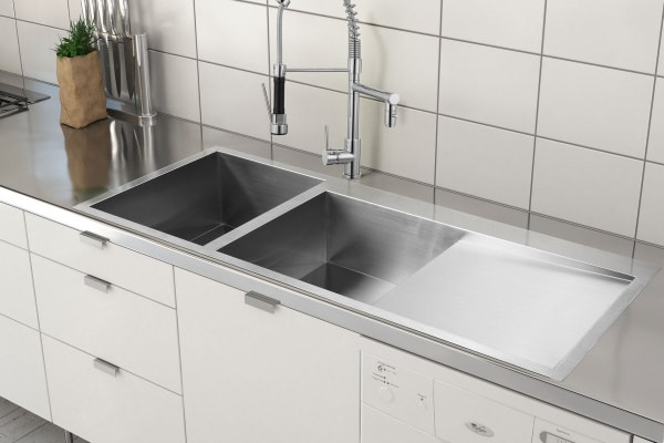 kitchen sinks b and q kromo vironia 450x kitchen sink 34 x 40 x 19 5cm kogan 8587