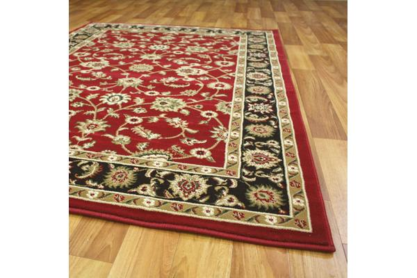 Classic Rug Red with Black Border 230x160cm
