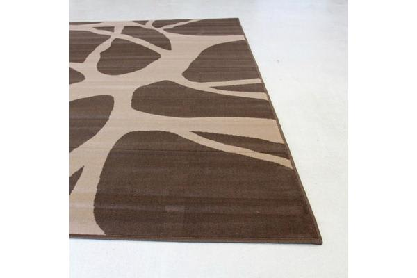 Abstract Modern Rug Brown Beige 230x160cm