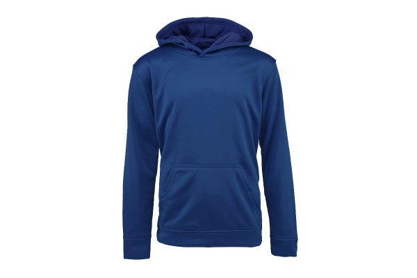 Champion Boys' Solid Performance Pullover Hoodie (Dark Royal, Size S)