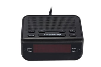 Select Mall LED Clock Radio Creative Alarm Clock Desktop Bedside Clocked Plug-in Radio FM FM Alarm Clock