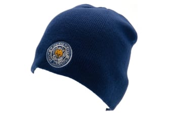 Leicester City FC Unisex 47 Knitted Hat (Blue)
