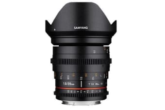 New Samyang 20mm T1.9 ED AS UMC Cine Lens for Nikon (FREE DELIVERY + 1 YEAR AU WARRANTY)