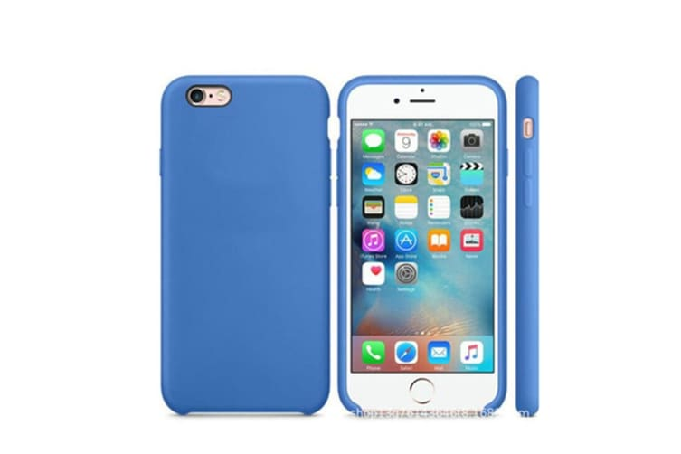 Silicone Gel Rubber Shockproof Protective Case Cover For Iphone Royal Blue I7/I8