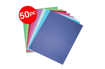 50pc Colourful Days A4 Board 210 GSM Cool Art/Craft School Paper Assorted Colour