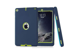 Heavy Duty Shockproof Case Cover For iPad Mini 4-Navy Blue/Green