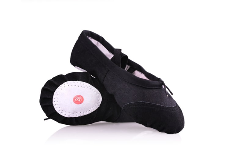 Girls Canvas Ballet Slipper/Ballet Shoe/Yoga Dance Shoes Black 38