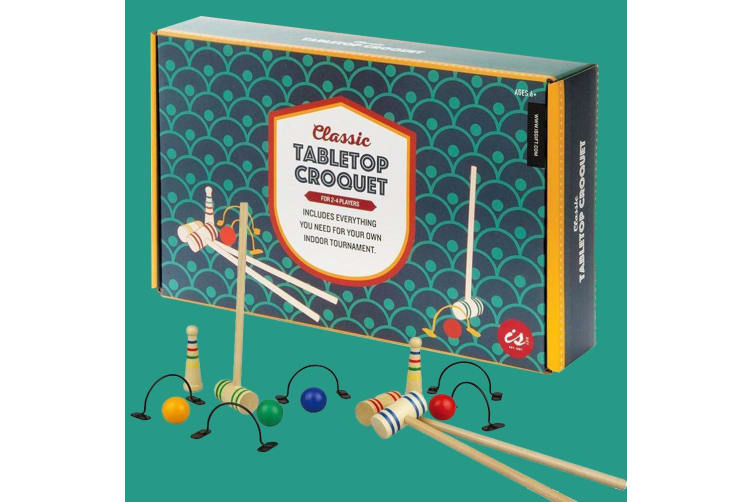 Classic Tabletop Croquet | Indoor Ball `n` Mallet Fun For Everyone!