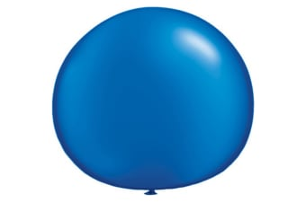 Qualatex 5 Inch Plain Latex Party Balloons (Pack Of 100) (48 Colours) (Pearl Sapphire)
