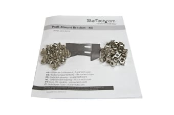 StarTech.com Wall-Mount Bracket for Shallow Rack-Mount Equipment - Solid Steel -