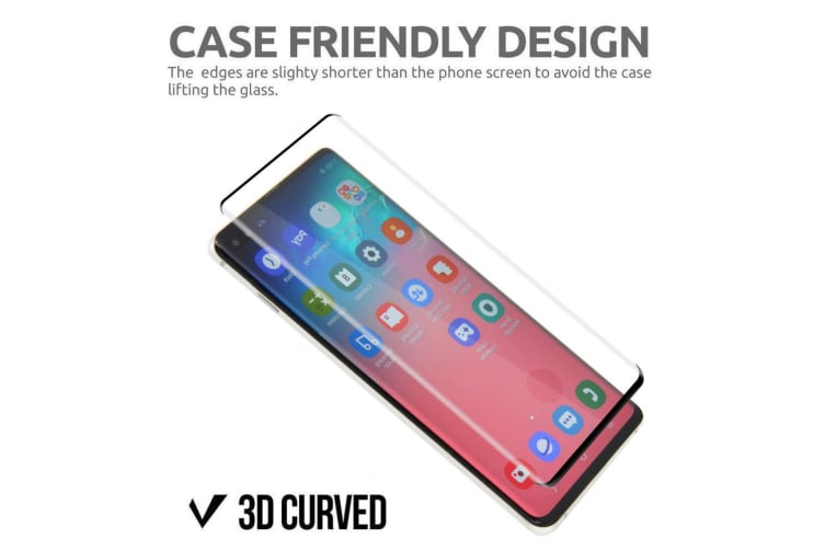 For Samsung Galaxy S10 3D Full Screen Tempered Glass Screen Protector iCoverLover