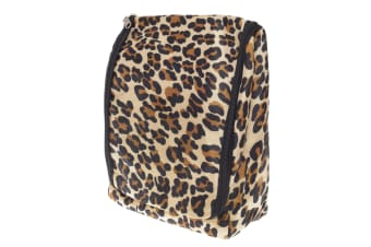Womens/Ladies Patterned Travel Toiletries Bag (Leopard Print) (One Size)