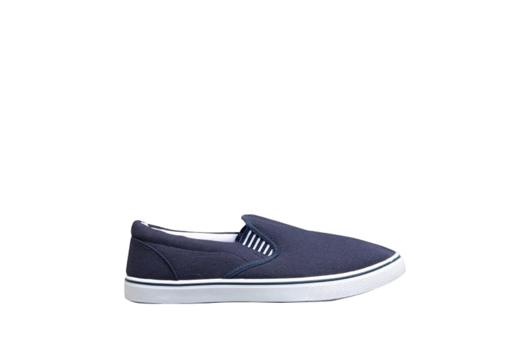 Mirak Yachtmaster Twin Gusset Slip-On / Mens Shoes (Navy) (43 EUR)