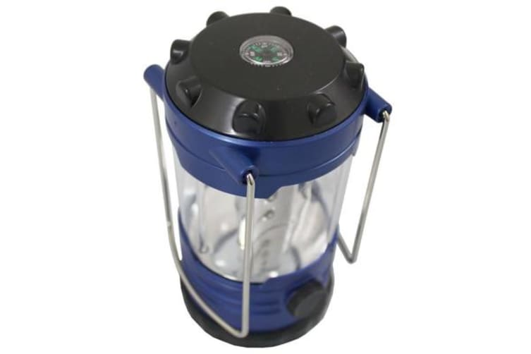 12 Led Battery Operated Camping Lantern W/ Compass + 4 Brightness Modes 9789