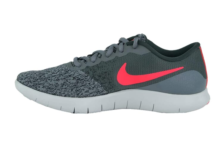 Nike Women's Flex Contact Running Shoes (Cool Grey/Solar Red/Anthracite, Size 7 US)