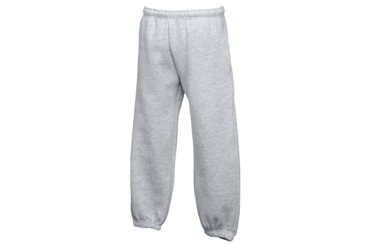 Fruit Of The Loom Kids Unisex Premium 70/30 Jog Pants / Jogging Bottoms (Pack of 2) (Heather Grey) (5-6)