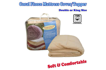 Soft and Comfortable Coral Fleece Mattress Cover/Topper DOUBLE