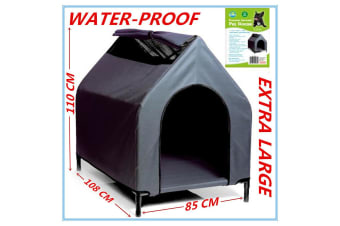 XL Waterproof Pet House Portable Flea Mite Resistant Dog Bed Puppy Kennel Elevated
