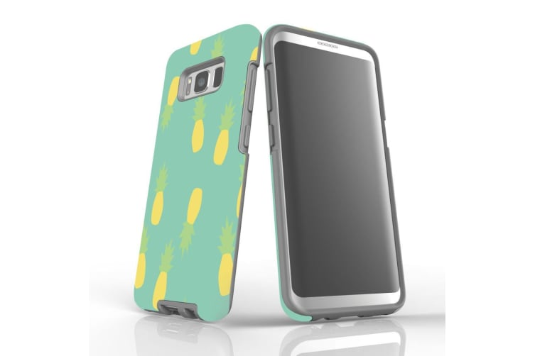 For Samsung Galaxy S8 Case  Armour Tough Cover  Pineapple Pastel