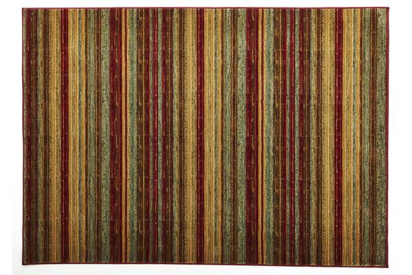 Rustic Stripe Stripped Rug Red 290x200cm