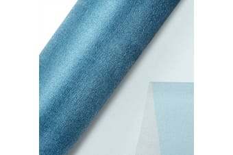 Club Green Organza 10 Metre Snow Sheer Roll (Mid Blue)