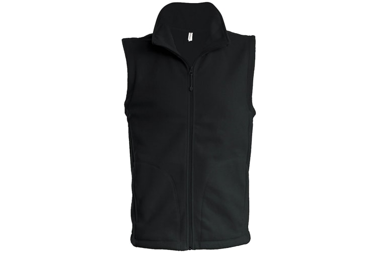 Kariban Mens Luca Fleece Gilet Jacket (Black) (3XL)