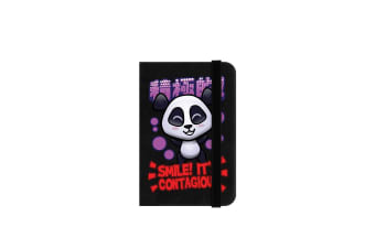 Handa Panda Smile Mini Black Notebook (Black)