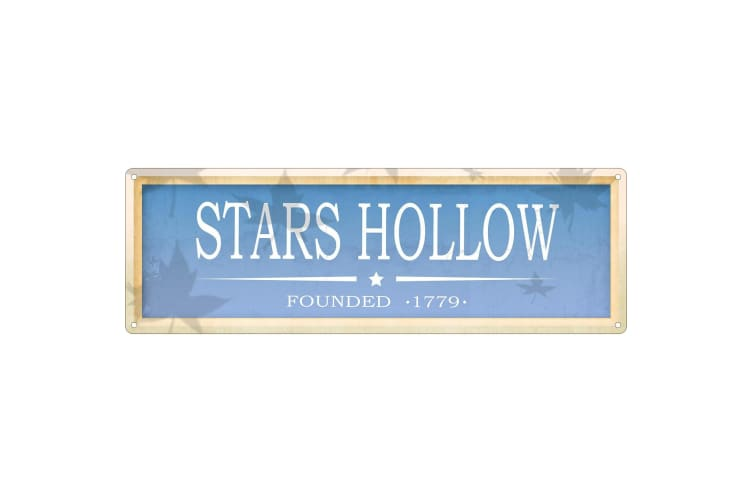 Grindstore Stars Hollow Slim Tin Sign (Blue) (One Size)