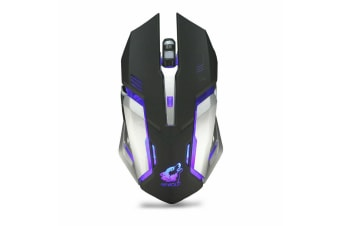 2.4GHz Wireless USB Optical Ergonomic LED Light Gaming Mouse Rechargeable