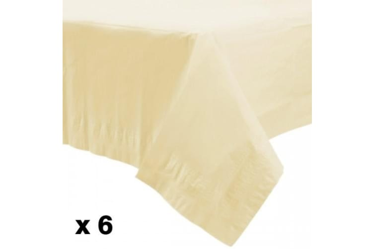 Amscan Lined Plastic Tablecovers (Vanilla) (One Size)