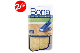 2PK Bona Microfibre Applicator Pad for Wood Refresher/Polish Floor Mop Cleaning
