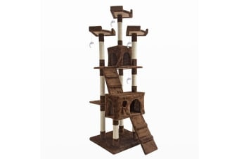 Cat Tree Scratcher JUMBO 180cm - BROWN