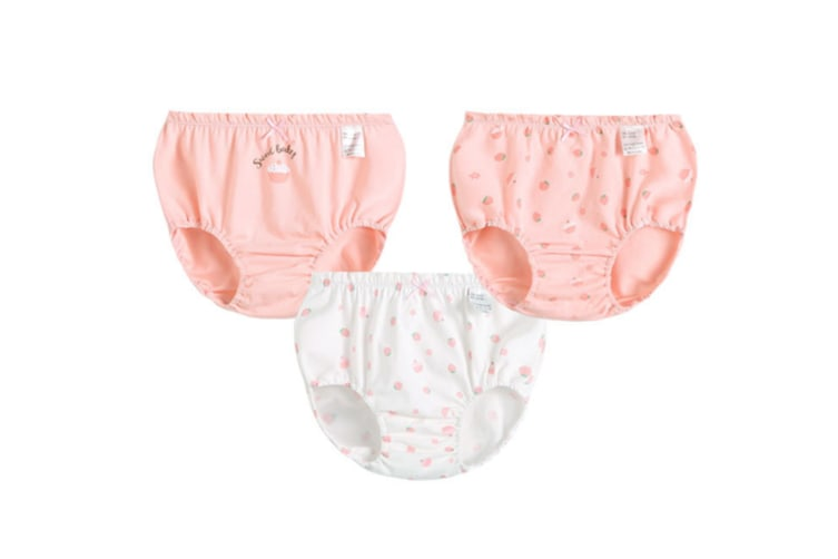 3Pcs Baby Girl Toddler Cute Cotton Panties Underwear - Pink Pink 150