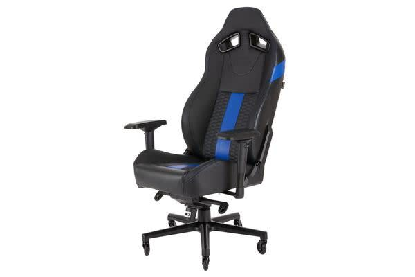 CORSAIR T2 ROAD WARRIOR, High Back Desk and Office Chair, Black/Blue, 2 Year Warranty.