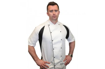 Le Chef Mens Thermocool Chefs Jacket (Snow) (2XL)
