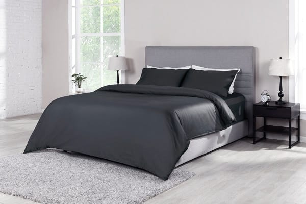 Ovela 1000TC 100% Egyptian Cotton Quilt Cover Set (King, Charcoal)