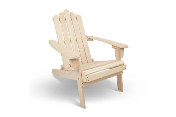 Adirondack Foldable Deck Chair (Natural)