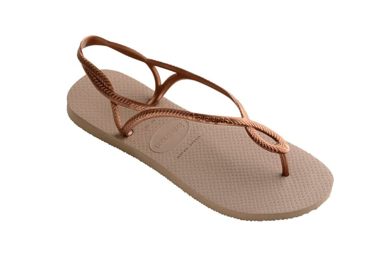 Havaianas Luna Thongs (Rose Gold/Rose Gold, Size 35/36 BR)