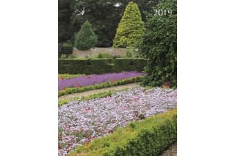 Beautiful Gardens 2019 Premium Diary Planner A5 Padded Cover Xmas New Year Gift