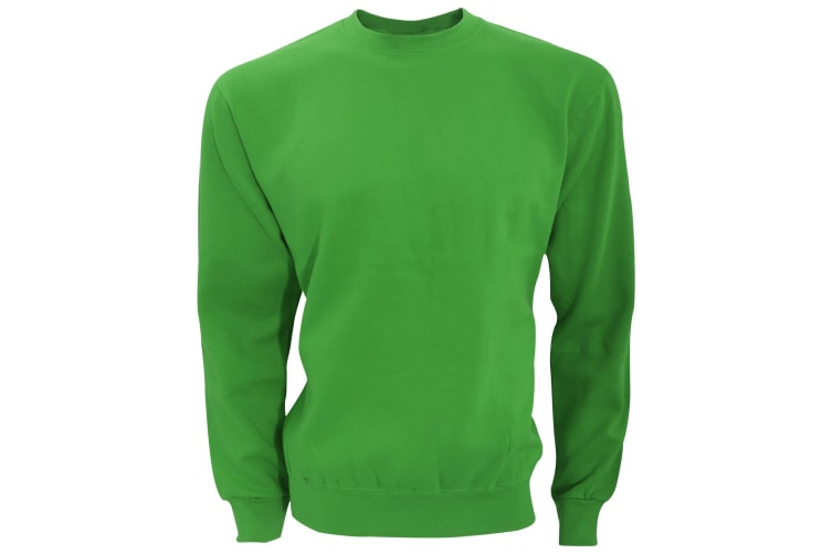 SG Mens Long Sleeve Crew Neck Sweatshirt Top (Green) (2XL)