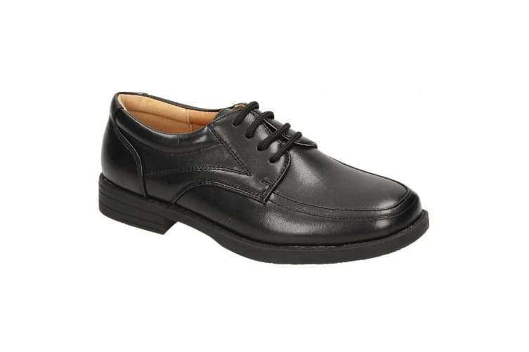 Cool For School Childrens Boys Formal Lace Up Shoes (Black) (UK Size 12 Kids)