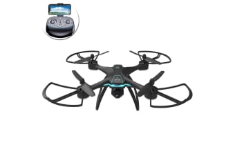 Lenoxx GPS Waypoints Quadcopter Selfie Drone HD Live Video Camera 2.4GHz Black