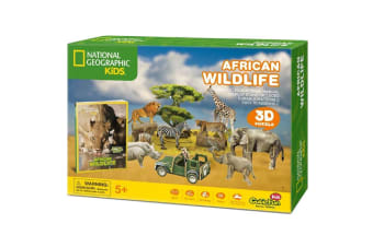 National Geographic  Kids African Wildlife 3D Puzzle