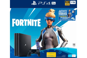 Sony PlayStation 4 Pro Console 1TB Fortnite Neo Versa Bundle (Black)